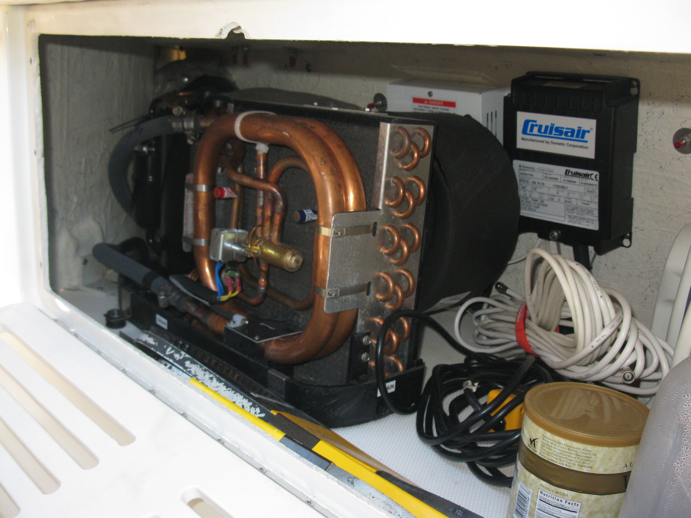 Custom Ac Installations Southeastern Marine Of The Carolinas 843 Wiring 16000 Btu Crusair Turbo Unit On Starboard Side